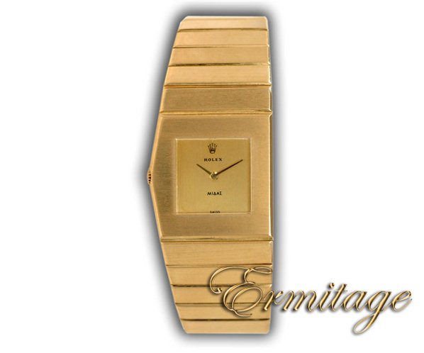Yellow gold ROLEX King Midas ref. 9630 at Ermitage Jewelers